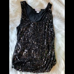 Tops - Sexy Black Sequin Top